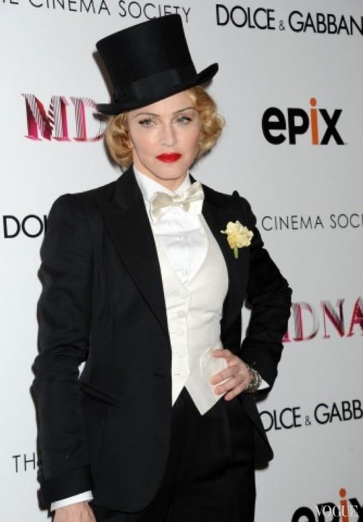 2012. В образе Марлен Дитрих в Нью-Йорке, на премьере турне Madonna The MDNA Tour