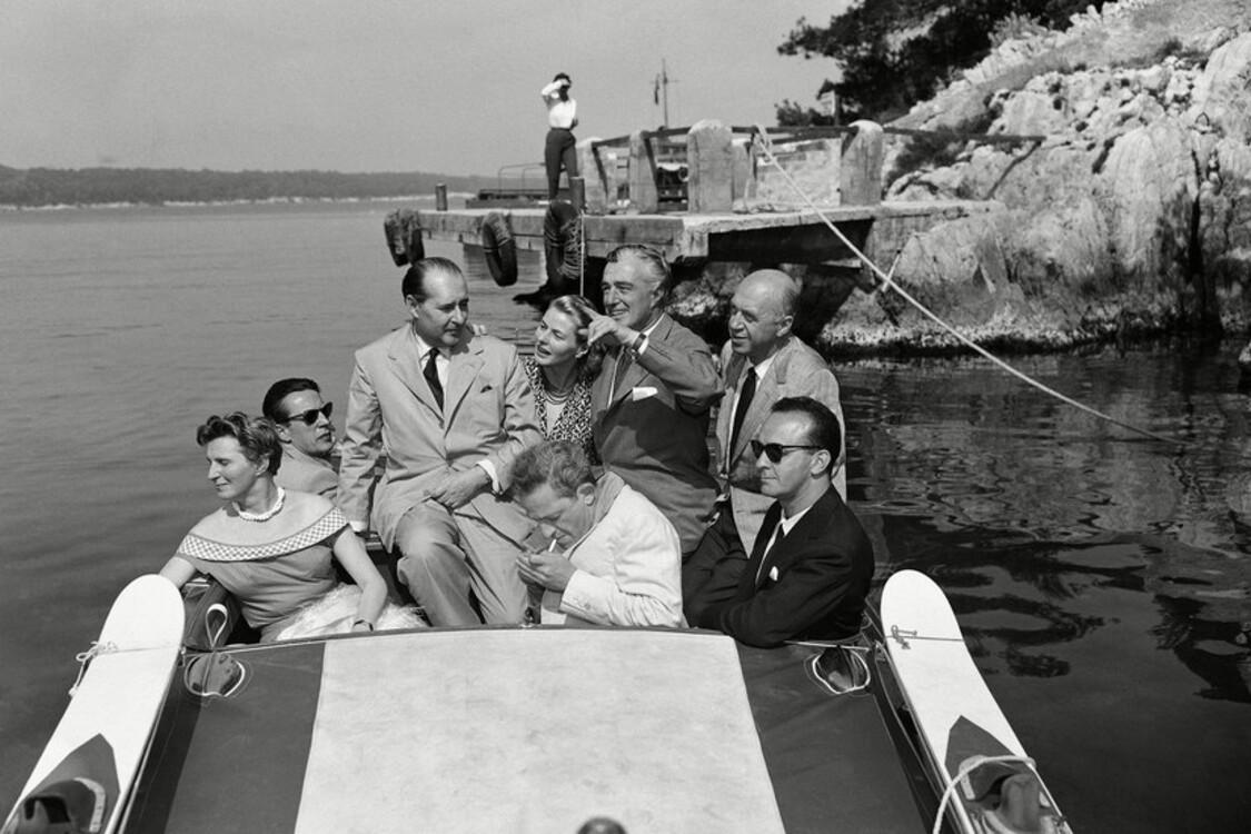 Роберто Росселлини и Ингрид Бергман, 1956
