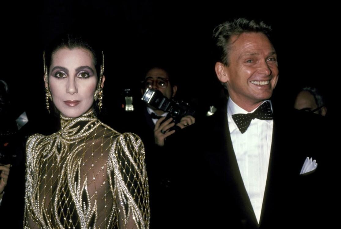 Шер в Bob Mackie с Бобом Меки, MET Gala 1985