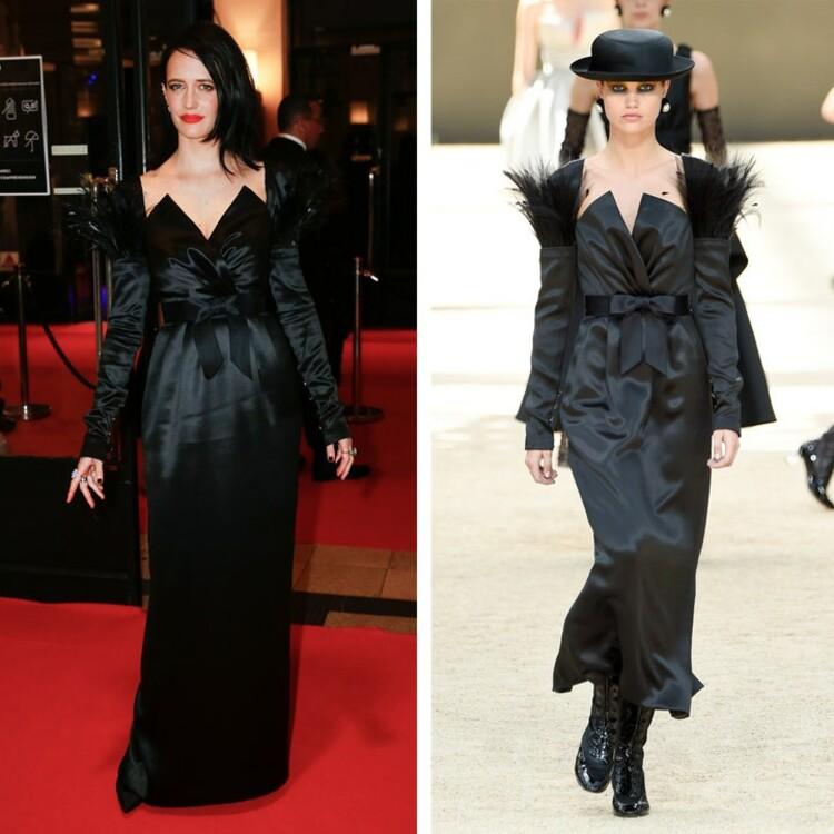 Ева Грин в измененном платье Chanel Couture на Cesar Film Awards в феврале 2020 года.