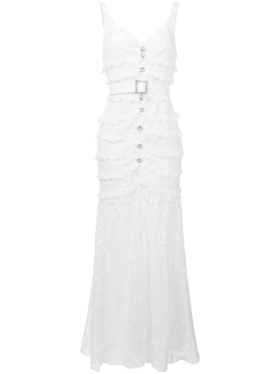 ALESSANDRA RICH ruffled lace dress
