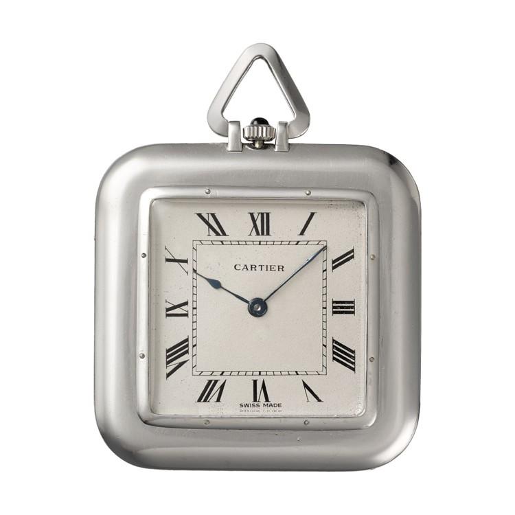 Карманные часы Cartier, Париж, 1914 г. Платина, один оникс в виде кабошона Коллекция Cartier