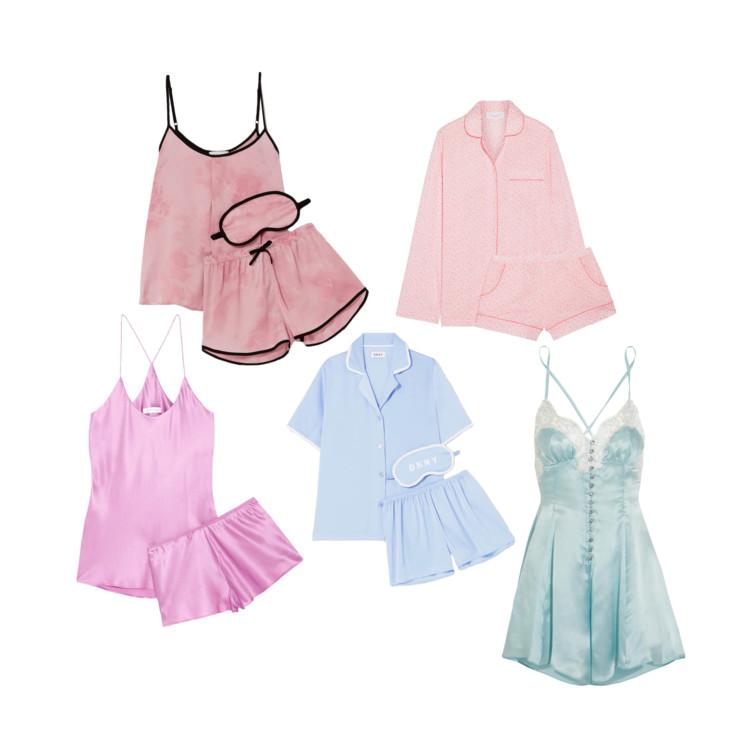 Пижама Olivia von Halle; пижамы DKNY; пижама Three J NYC; ночнушка Rosamosario