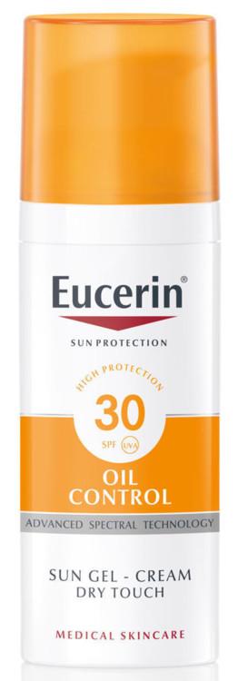 Сонцезахисний гель-крем для жирної і схильної до акне шкіри обличчя Oil Control, Eucerin, SPF 30 UVA