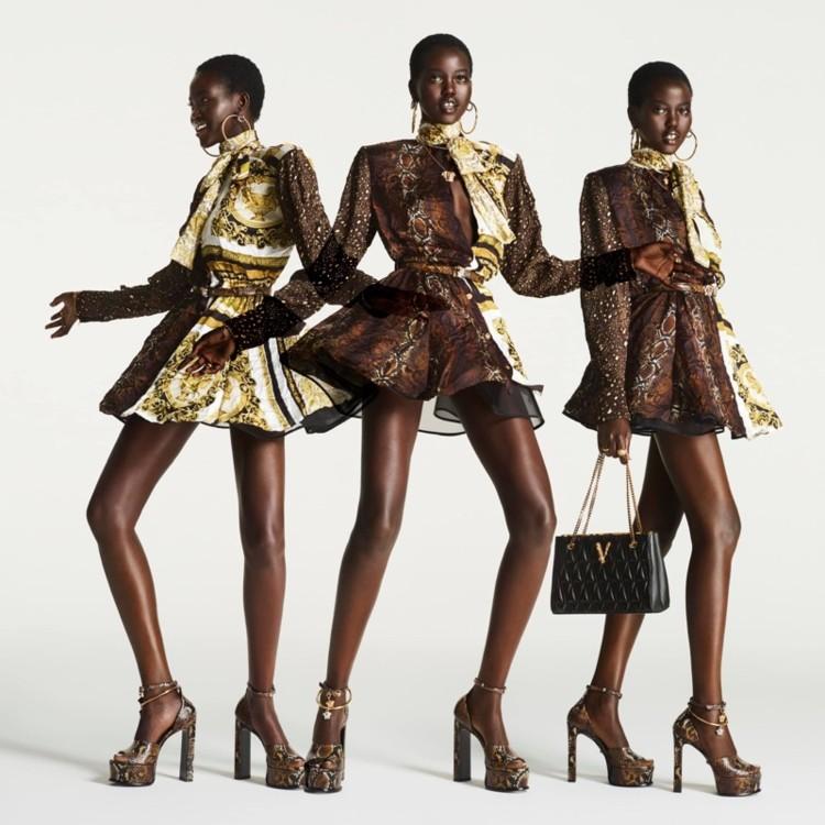 Рекламная кампания Versace Flash 2021