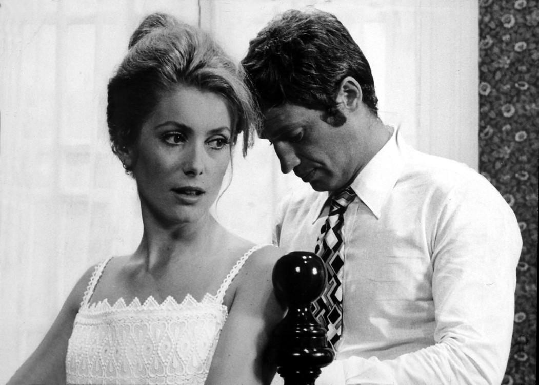 """С актрисой Катрин Днев на съемках фильма """"Сирена с «Миссисипи»"""", 1969"""