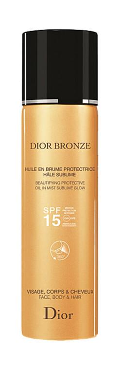 Олія-димка з ефектом блиску для обличчя, тіла і волосся Bronze Beautifying Protective Oil in Mist, SPF 15, Dior