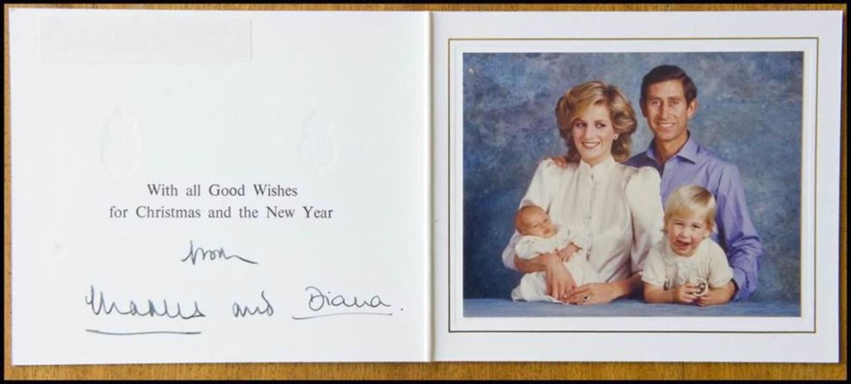 Принцесса Диана и принц Чарльз с детьми, 1984