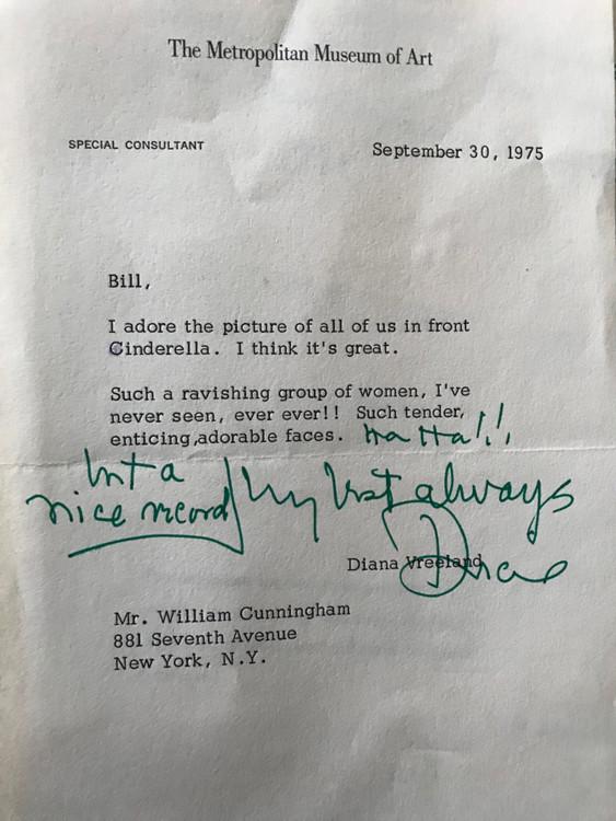 Письмо от Дианы Вриланд