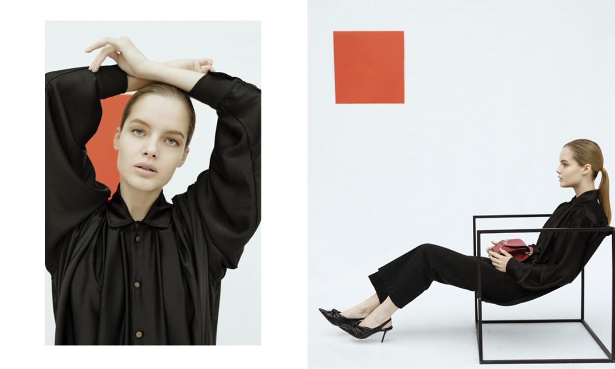 На фото: блуза Philosophy di Lorenzo Serafini, штани See by Chloe, туфлі Jimmy Choo