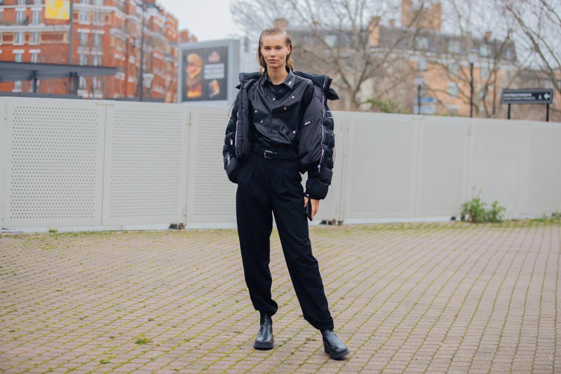 Как носить черный пуховик этой зимой 2020/2021 стритстайл фото идеи фото