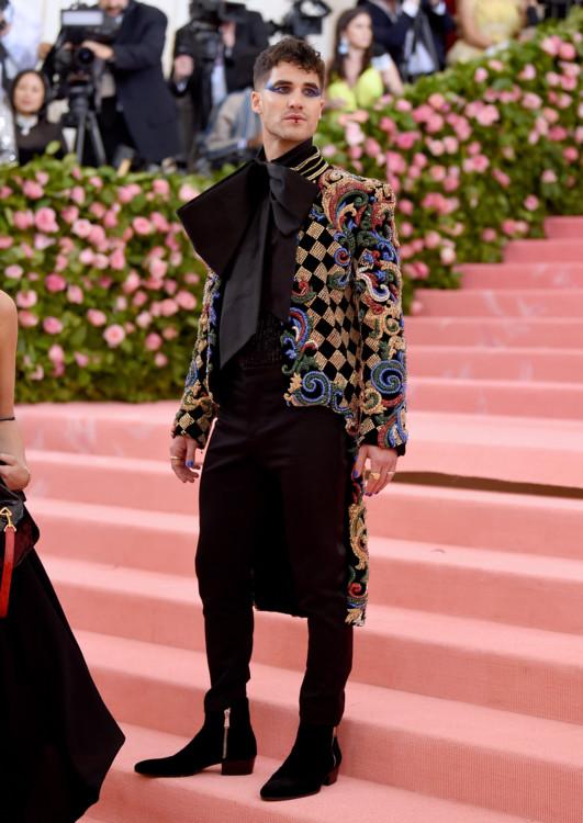Даррен Крисс на церемонии Met Gala, 2019