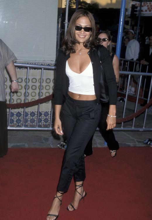 Дженніфер Лопес на прем'єрі фільму «Армагеддон», 1998