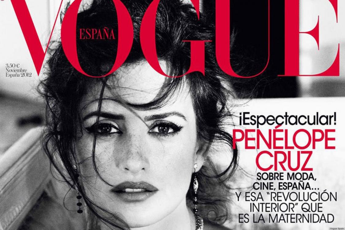 Пенелопа Крус на обложке испанского Vogue, ноябрь 2012