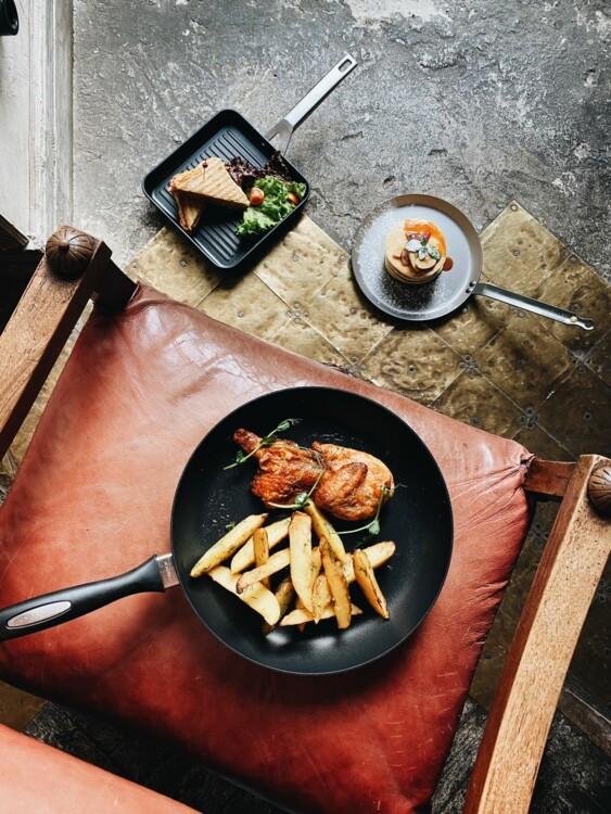 Сковорода с антипригарным покрытием Scanpan, сковорода для блинов De Buyer, сковорода-гриль Valira