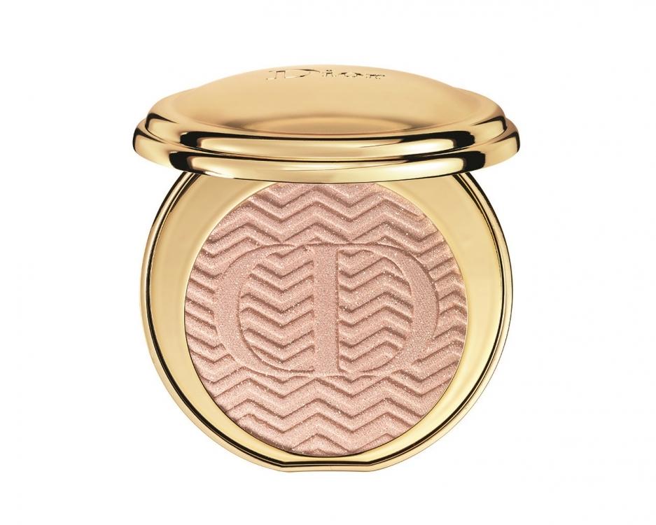 Компактная пудра-хайлайтер Illuminating Pressed Powder Diorific из коллекции State of Gold, № 002 Sumptuous Pink, Dior