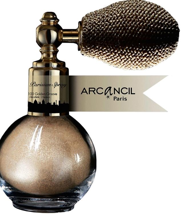 Пудра-спрей для волос, ключиц и зоны декольте Parisian Spray № 100 Golden Groove, Arcncil