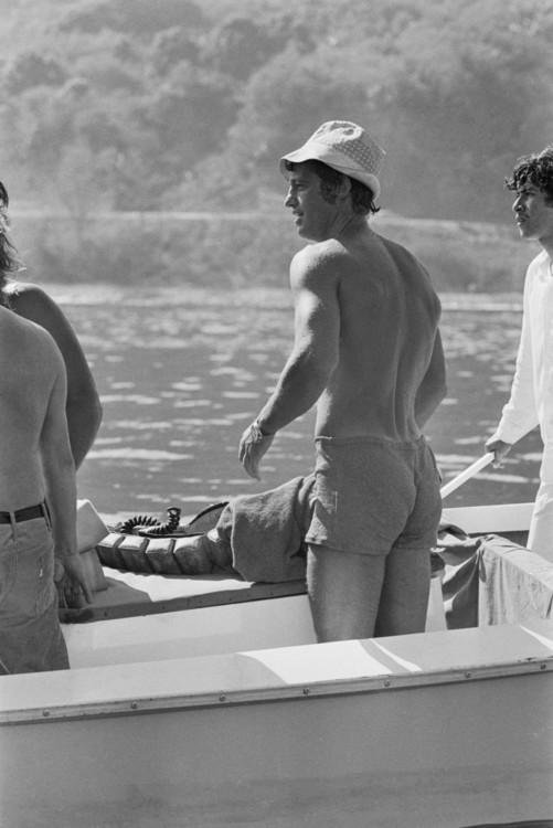 Жан-Поль Бельмондо на съемках фильма «Великолепный» в Мексике, 1973