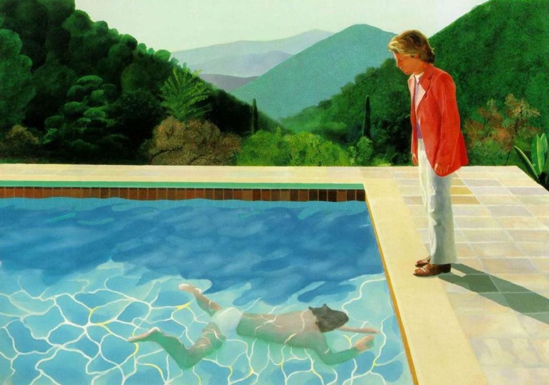 «Портрет художника (Бассейн с двумя фигурами)», 1972
