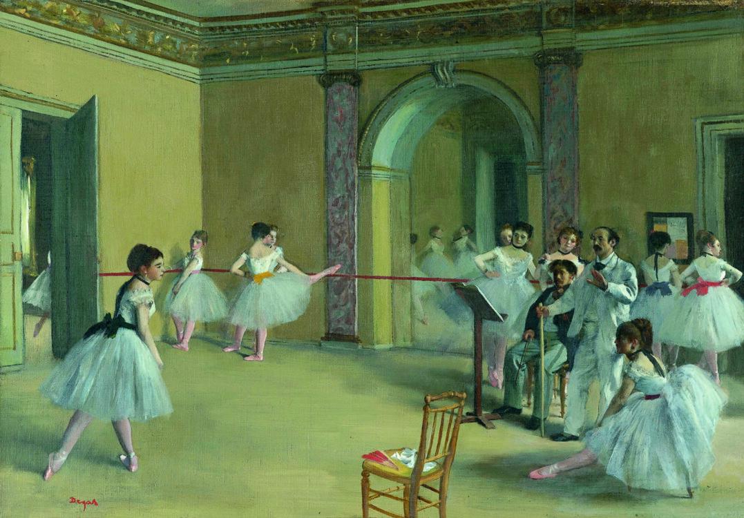 «Урок танца в оперном театре на улице Ле-Пелетье», 1872