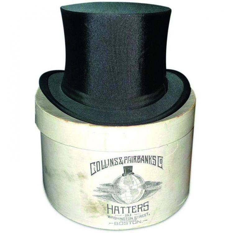 Цилиндр, винтаж, Collins & Fairbanks Co.