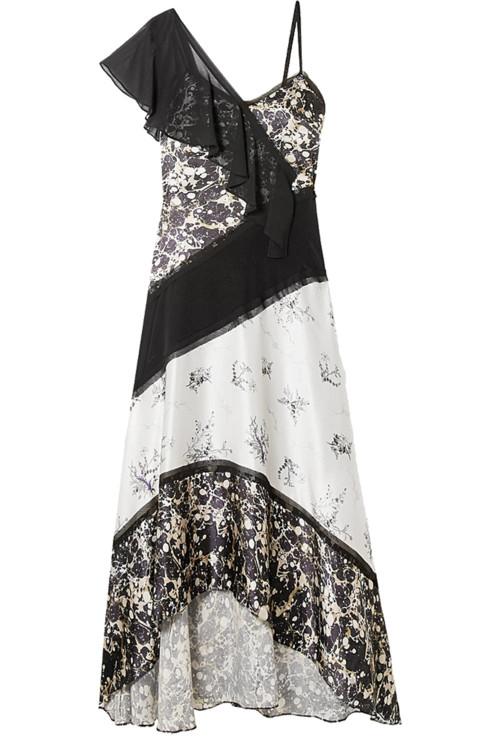 Платье из шелка и полиэстера, Jason Wu