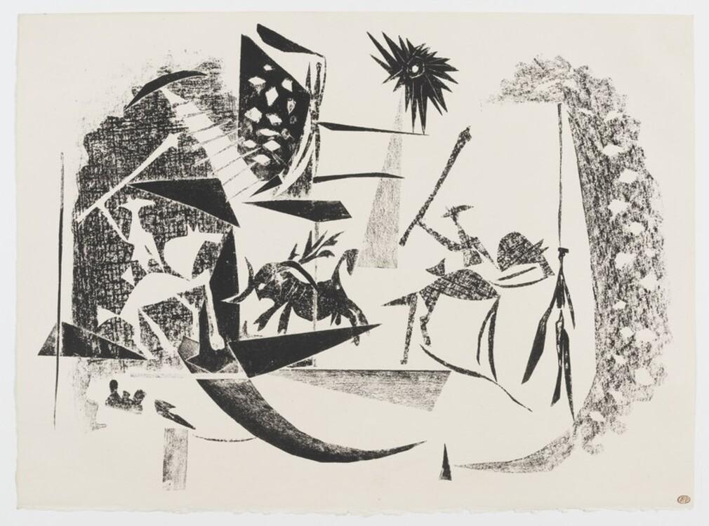 Пабло Пикассо, Corrida au soleil noir Париж, 7 января 1946 год