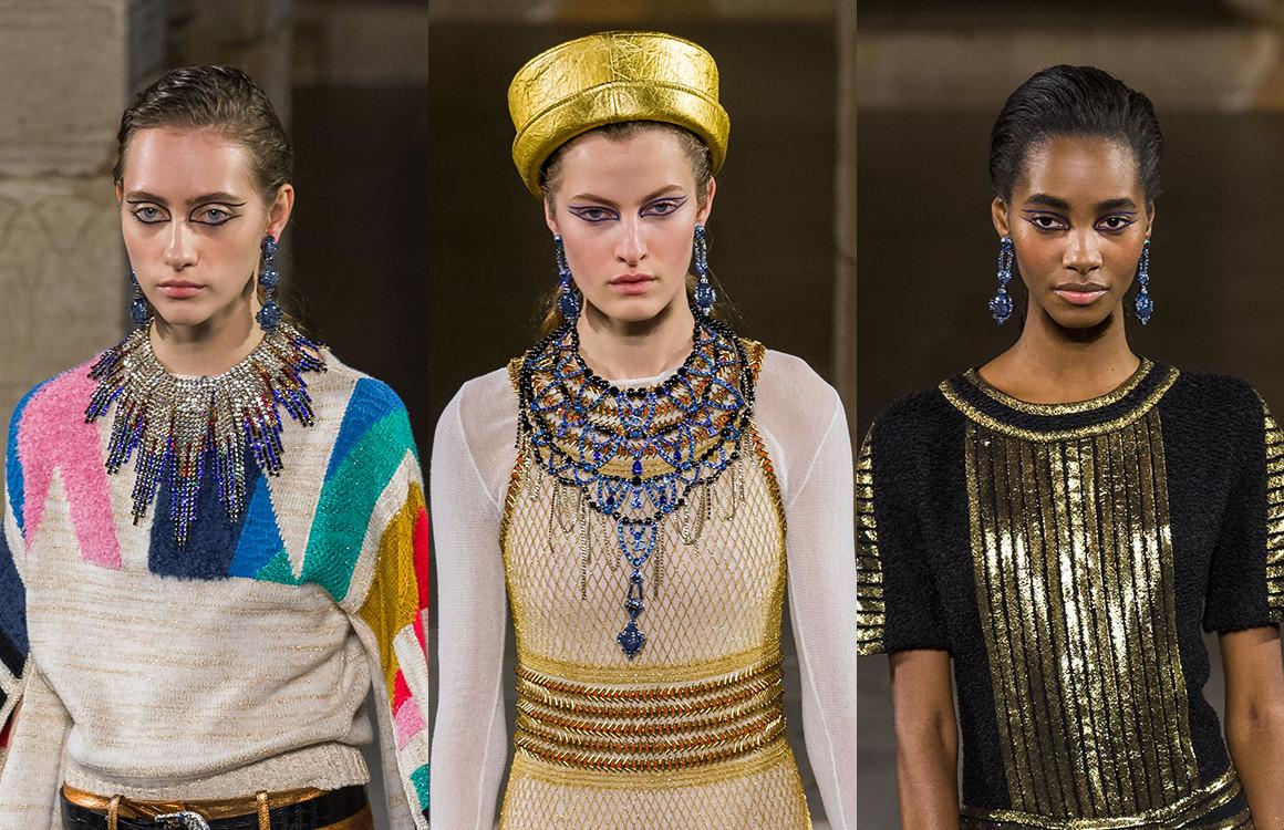 Египетские мотивы и лазуритовые украшения