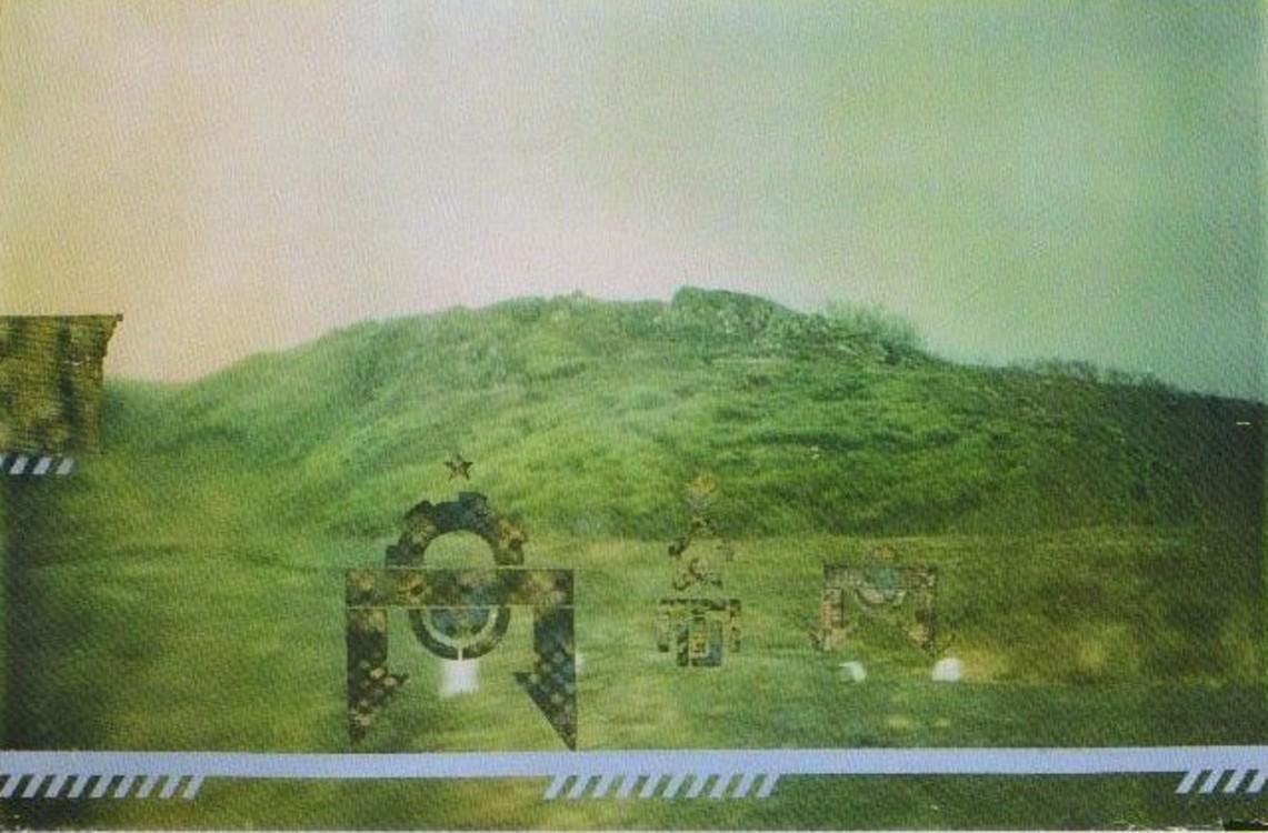 Олег Тистол, 1990-1992, фотография, эмаль, 100 х 150 см