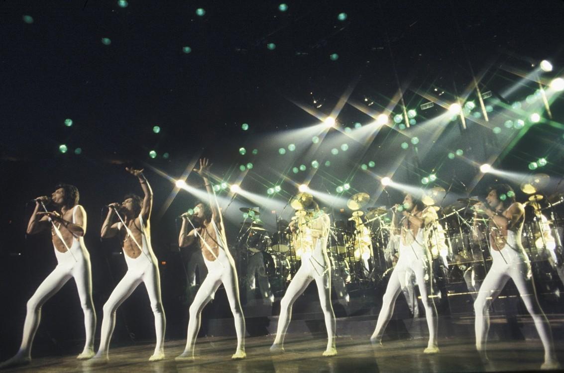 На концерте в Мэдисон-Сквер-Гарден в 1977 году