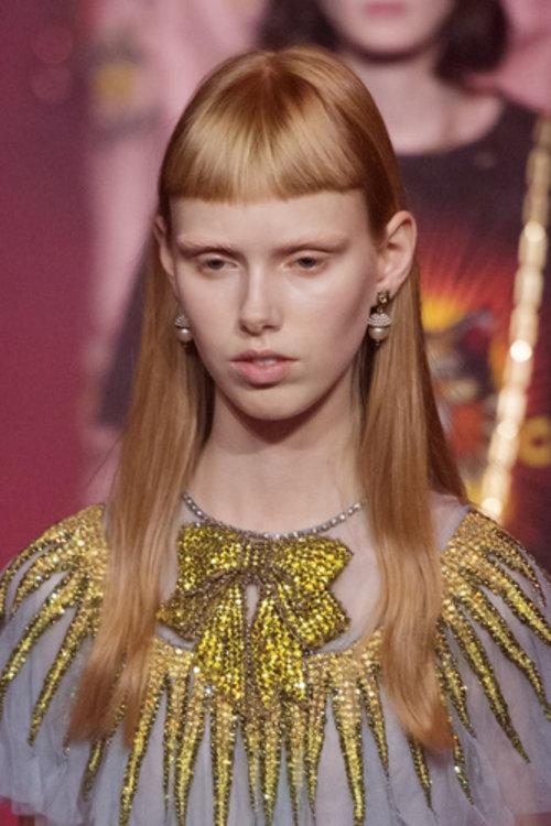 Датская модель Лулулейка Равн Лиеп на шоу Gucci
