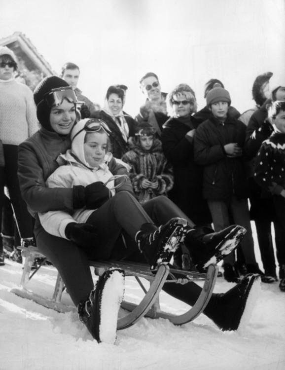 Джеки Кеннеди в Гштаде, 1966 год