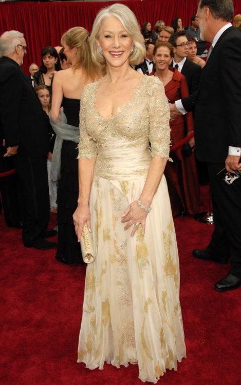 2007 год: Хелен Миррен в платье Christian Lacroix