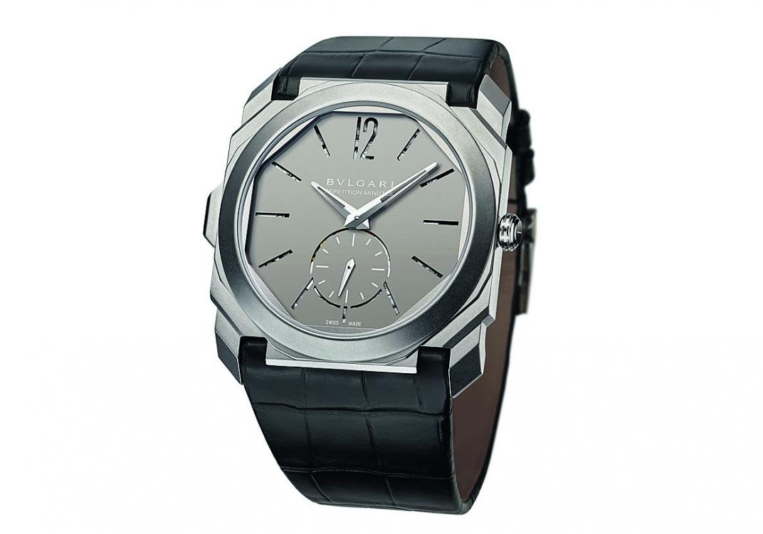 Часы Octo Finissimo Minute Repeater, корпус из титана, BVLGARI, лимитированная серия из 50 экземпляров