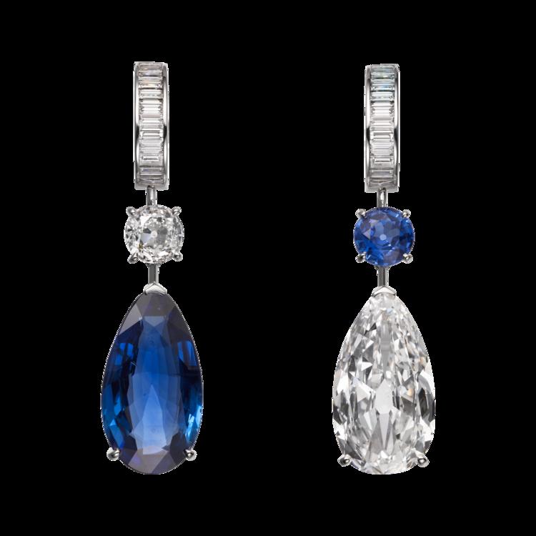 Серьги Magicien, платина, сапфиры, бриллианты, Cartier High Jewelry