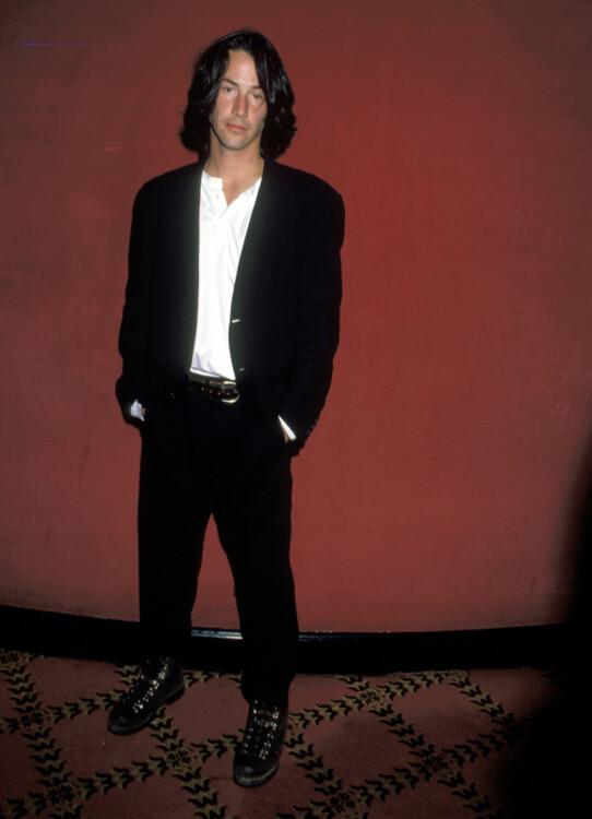 Кіану Рівз на прем'єрі фільму «Багато галасу з нічого» в Нью-Йорку, 1993