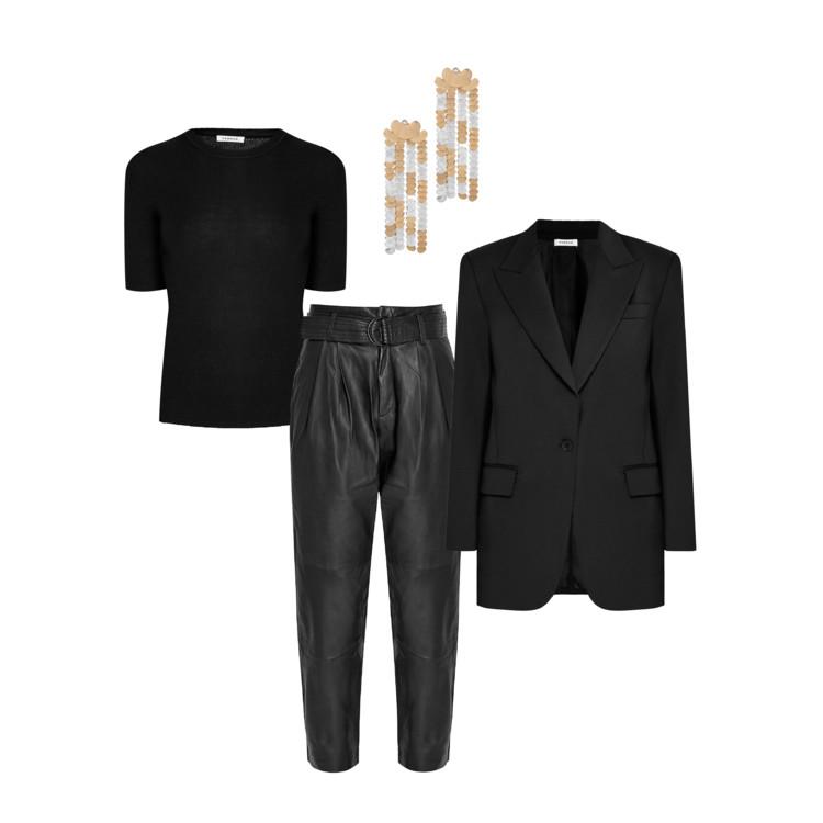 Жакет, брюки и топ – P.A.R.O.S.H., серьги PATOU