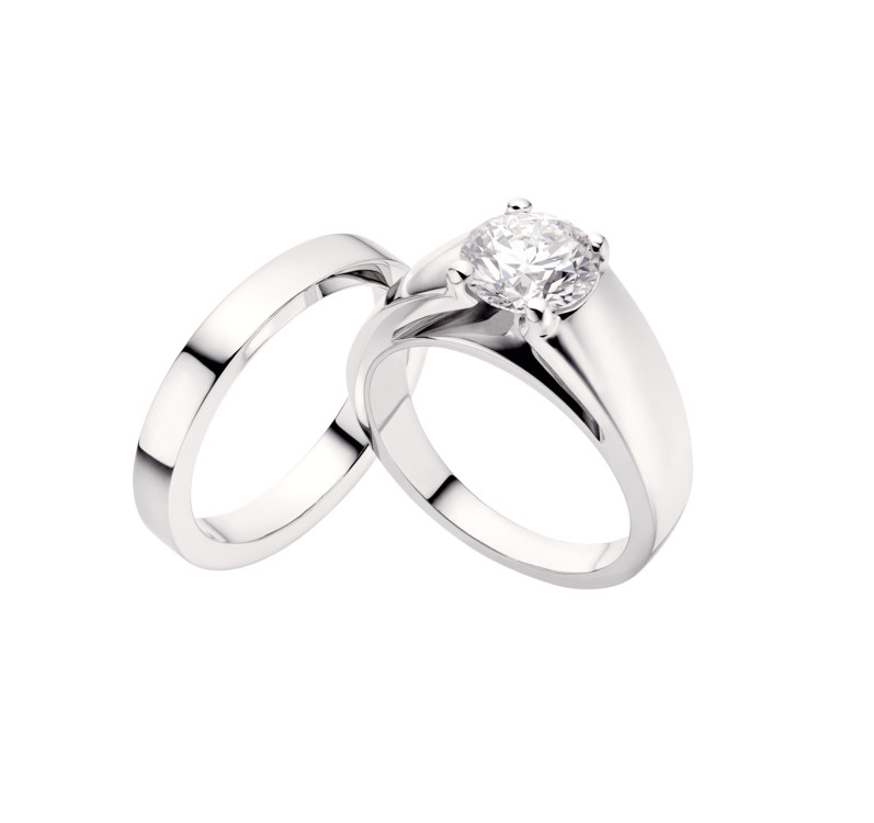Кольцо Marry Me, Bugari, платина и бриллианты
