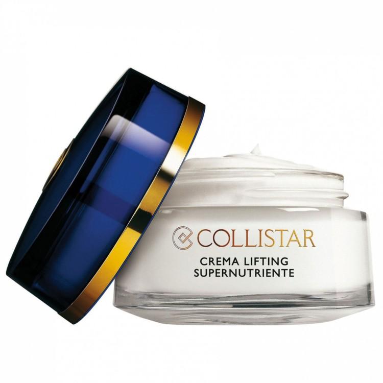 Інтенсивний живильний крем-ліфтинг Collistar, з комплексом вітамінів, мінералів і мікроелементів. Він збагачений протеїнами, фітоекстрактом, натуральними есенціями і керамідами, які живлять і насичують вологою