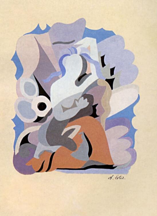"""«Иллюстрация к книге Сафо """"Стихи""""», 1942"""