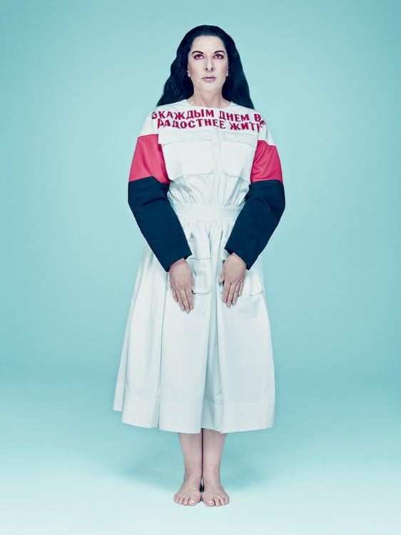 Проект Марины Абрамович для арт-номера Vogue UA, август 2014 (куратор Philip Vlasov)