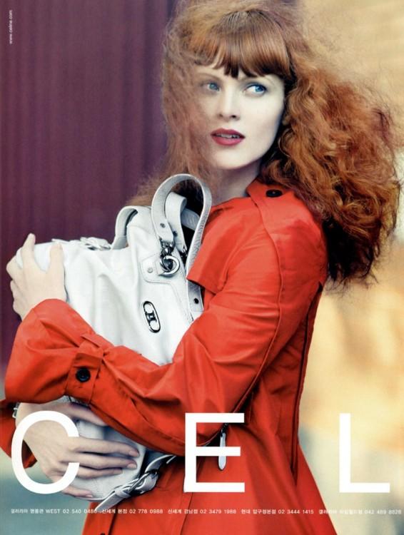 Карен Элсон в рекламной кампании  Celine весна-лето 2008