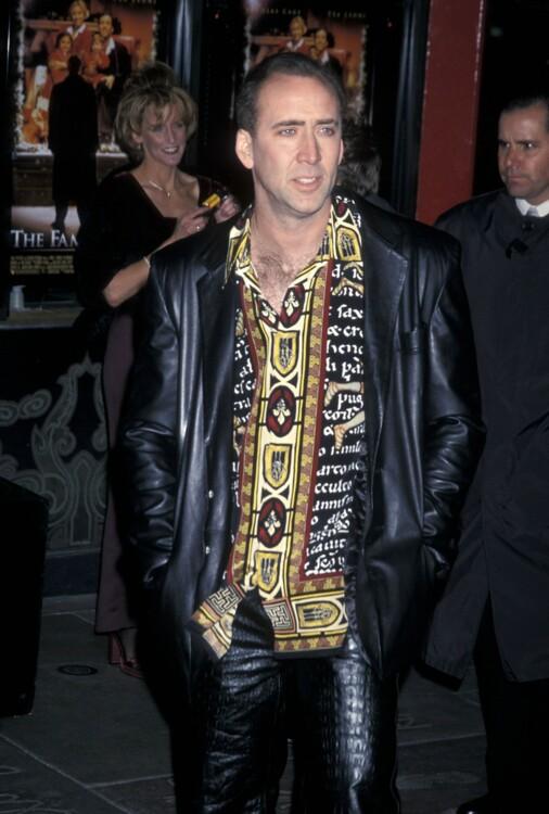 Николас Кейдж на премьере фильма «Семьянин» 12 декабря 2000 года