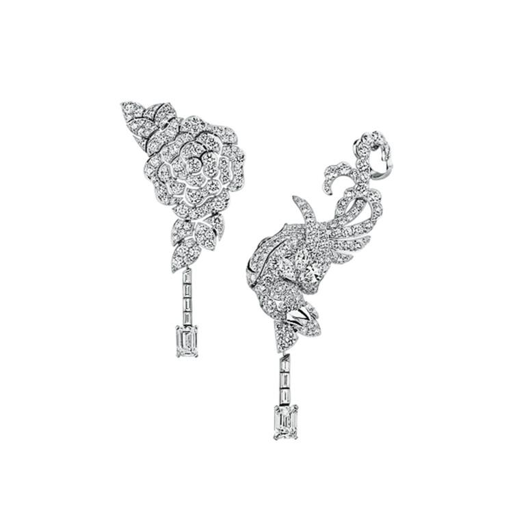 Сережки, золото, діаманти, Chanel Coromandel High Jewellery