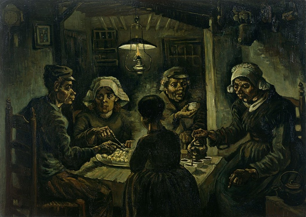 """Їдці картоплі"", 1885, Музей Вінсента Ван Гога, Амстердам, Нідерланди"