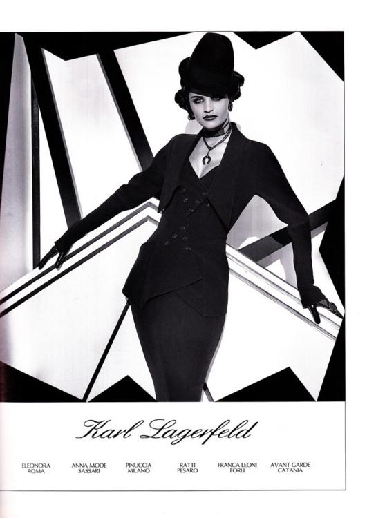 Рекламная кампания Karl Lagerfeld весна-лето 1992