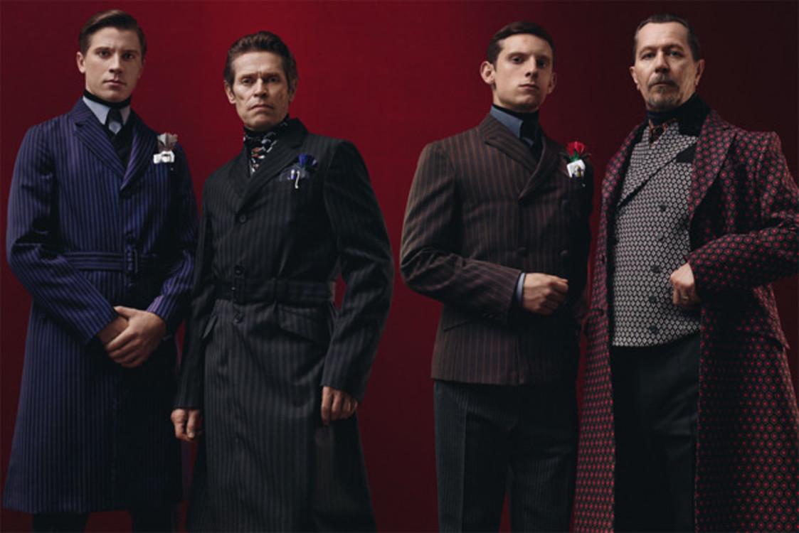 Гари Олдман, Джейми Белл, Гаррет Хедлунд, Уиллем Дефо в рекламной кампании Prada осень-зима 2012/2013
