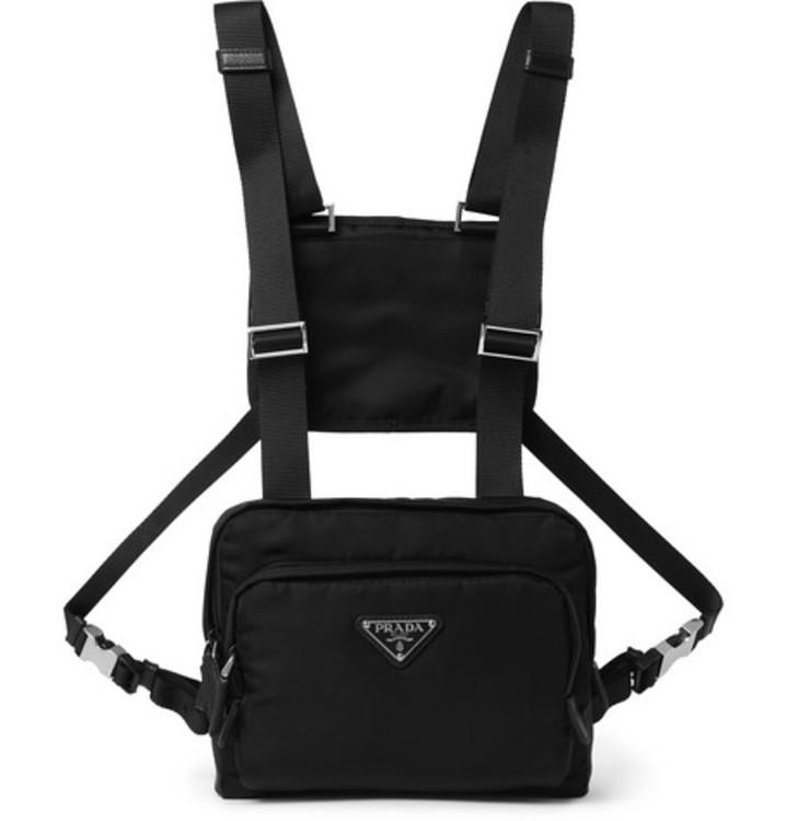 Нагрудная нейлоновая сумка, Prada