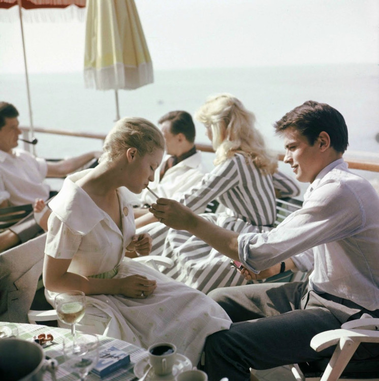 Роми Шнайдер и Ален Делон, 1962 год