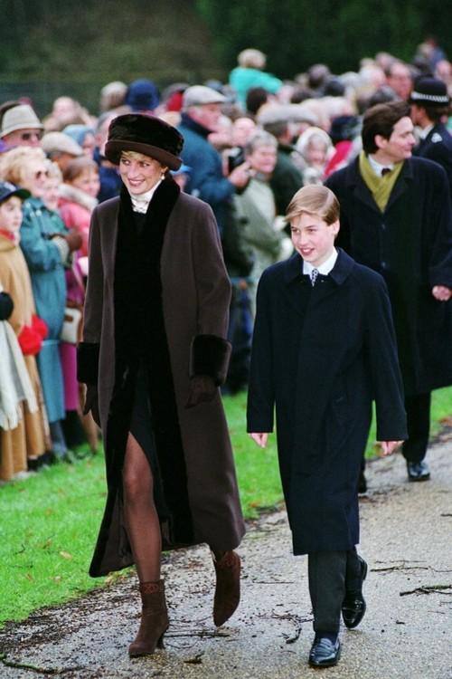 Принцеса Діана і принц Вільям, 25 грудня 1994 р.